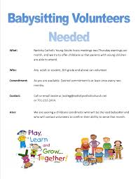 volunteer opportunities youth ministry childcare need advertisement