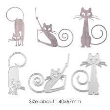 3pcs Cat Metal Cutting Dies Stencil for DIY Scrapbooking Photo ...