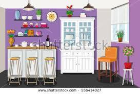 room interior table cupboard vector