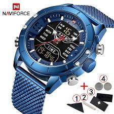 <b>NAVIFORCE</b> Men Watches <b>Top Brand</b> Luxury LED Digital Quartz ...