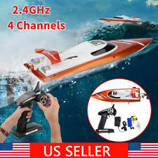 <b>2.4G 4 Channel</b> Water Cooling Boat Racing Speedboat RC Ship ...