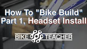 How to install a integrated headset on a carbon bike frame, Bike ...