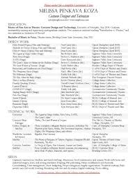 costume designer resume cipanewsletter melissa penkava koza online portfolio resume