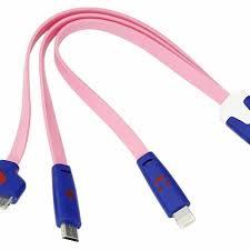 18-4251 Noname Usb кабель 3 в 1 светящиеся разъемы для ...