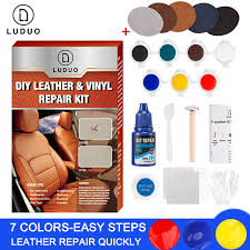 <b>LUDUO</b> Vinyl Liquid Leather Repair Kit Glue Paste <b>Car</b> Seat Skin ...