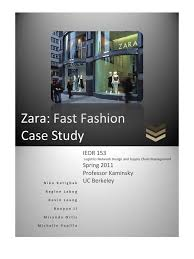 case study supply chain management zara  case study supply chain management zara