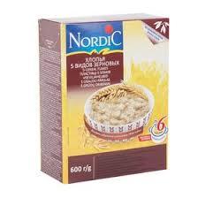 """<b>Хлопья</b> """"<b>Nordic</b>"""" <b>5</b> видов зерновых 600г (2388350) - Купить по ..."""
