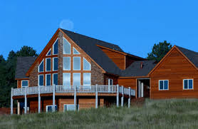 See the HC   Chalet style house plan from Creative House PlansBeautifully spacious is what defines this chalet style home