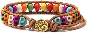 JOVIVI Beaded Leather Wrap Bracelets Healing ... - Amazon.com