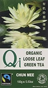 Qi <b>Organic</b> Fairtrade <b>Loose Leaf</b> Chun Mee <b>Tea</b> 100 g (Pack of 6 ...
