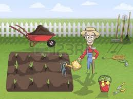 Image result for watering the plants cartoon
