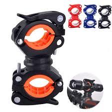 Rotate Bicycle Light Holder <b>Universal MTB Road Bike</b> Flashlight ...