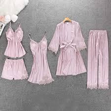 <b>ZOOLIM</b> Satin <b>Sleepwear</b> with Chest Pads Sexy <b>Women Pajamas</b> ...