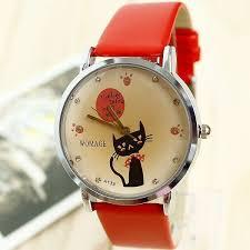 <b>Relogio Feminino Fashion</b> Leather Strap Watches Cute Cartoon Cat ...