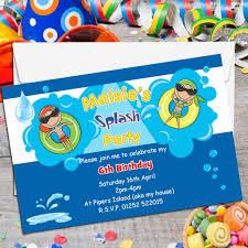 pool birthday party invitation gangcraft net personalised swimming pool birthday party invitations n birthday invitations