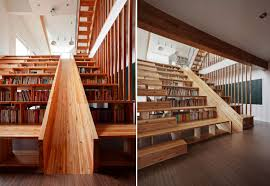 witching building a home library with natural brown wooden stair bookcase be equipped sliding and interesting building home office witching