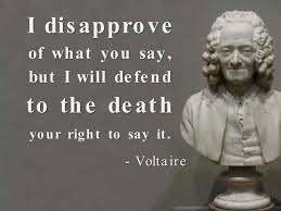 Voltaire - True belief in freedom of speech. | Words of Wisdom ...