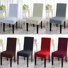 Removable Stretch 4/<b>6 Dining Chair</b> Covers Seat Slipcovers Kitchen ...
