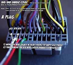 wire to wire iacv conversion for civic your engine and wiring is now setup to use the 2 wire iacv plug you can now connect your obd2a to obd1 ecu jumper harness and plug in your obd1 ecu