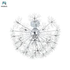 <b>Post Modern</b> Crystal Dandelion G4 <b>Led Ceiling</b> Lamp Bedroom ...
