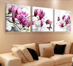 <b>No Frame 3PCS</b> Hot Wall Painting Flowers Canvas Painting Home ...