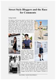 capital thread street style blogging essay fashion student   essay i submitted at school last year on street style blogging it encapsulates my thoughts and inspirations let me know what you think