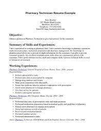 technician resume template cipanewsletter hospital pharmacy technician resume