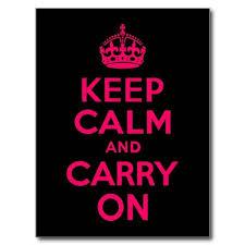 Pink <b>Black Keep Calm</b> and Carry On Postcard | Zazzle.com | Keep ...