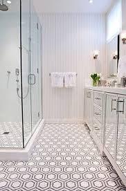 white bathroom floor: ceramic penny rounds round tile bathroom floor white t
