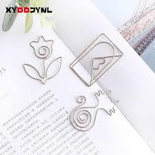 <b>1pc Cute</b> Cartoon Bookmark Rose Gold <b>Metal</b> Paper Clip <b>Kawaii</b> ...