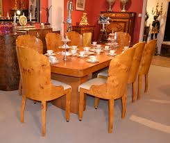 antique art deco birdseye maple dining table 8 chairs art deco dining table 8