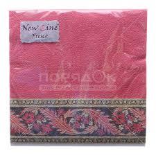 <b>Салфетки бумажные New</b> Line Хохлома бордо 20 шт, 33х33 см в ...