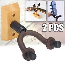 2pc <b>solid wood</b> guitar <b>hook</b> ukulele violin <b>wall</b> mount hanger bracket ...