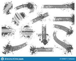 <b>Dirty Tire</b> Tracks. Grunge Motor Race Track, <b>Wheel</b> Tires Protector ...