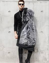 NEW Men Wool Fur coat High Quality <b>Winter Real Fox fur</b> collar ...