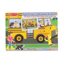 """<b>Пазл</b> со звуком """"Автобус"""", 6 элементов <b>Melissa & Doug</b> – купить ..."""