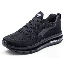 <b>ONEMIX Men's Running Shoes</b> - 3D Knit Air Cushion Athletic Sports ...