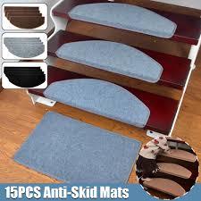 <b>15PCS</b> Self-Adhesive <b>Staircase Mats</b> Anti-Skid <b>Step Rugs</b> Safety ...