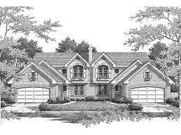 Ashley Place Duplex Home Plan D    House Plans and MoreTraditional House Plan Front Image of House   D    House Plans and More