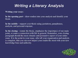 writing a literary analysis personal response you explore your writing a literary analysis writing your essay in the opening part draw readers into
