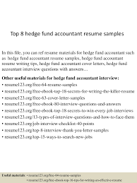 fund accountant sample resume pdf resume templates thumbnail 4jpg cb 1432734767 top8hedgefundaccountantresumesamples 150527135200 lva1 app6892 thumbnail 4 top 8 hedge fund accountant resume samples
