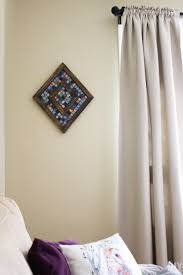 mosaic wall decor: diamond shaped wood and mosaic wall art