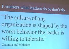 life of an educator images to share at your next faculty isn t this the truth it matters what leasers do or don t do the culture of any organization is shaped by the worst behavior the leader is wiling to
