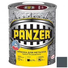 <b>Краска для металла Panzer</b> гладкая серая 0,75 л в Санкт ...