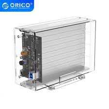 <b>ORICO Transparent Series</b> Dual-Bay 3.5 inch Portable Hard Drive ...