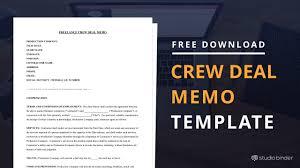 crew deal memo template