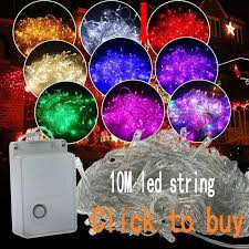 Online Shop Blue Outdoor <b>String</b> Lights <b>10M Led Garland String</b> ...