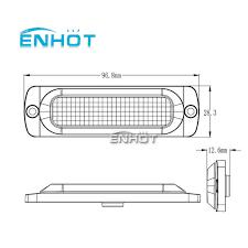 ENHOT <b>2PCS</b> Car styling 12V <b>4 Led Strobe</b> Warning Light bar ...