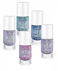 Essence <b>Лак для ногтей Holo</b> Rainbow Nail Polish, 8 мл (5 оттенков)