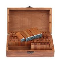 ヾ(^  ^)ノ Big promotion for <b>number and letter</b> wood stamp wooden ...